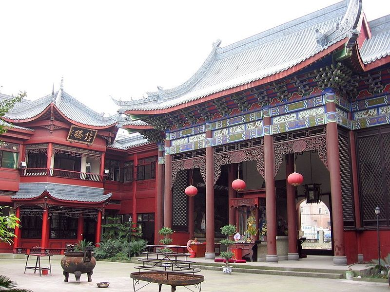 The Ai Dao Nunnery in Chengdu, source: Wikimedia Commons